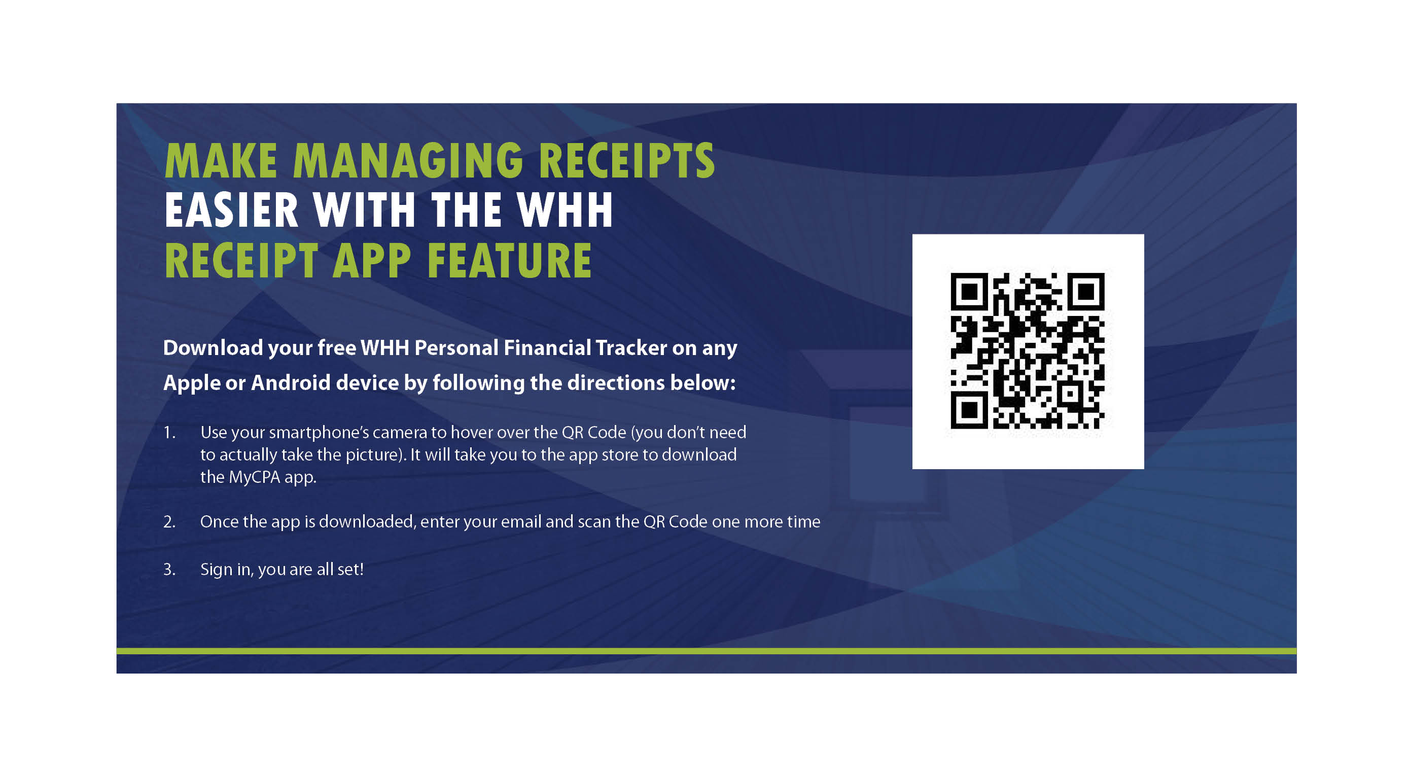 make managing receipts easier with the whh receipt app feature